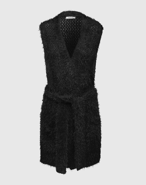EDITED the label Fluffy Strickweste ´Faina´ Damen schwarz