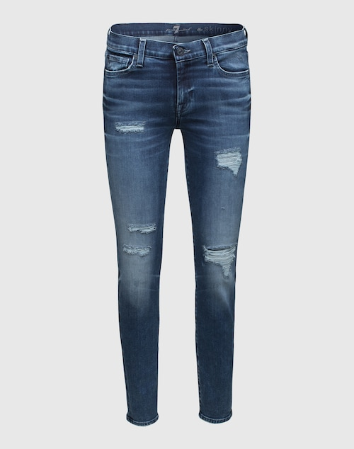 7 for all mankind Skinny Denim Damen blau