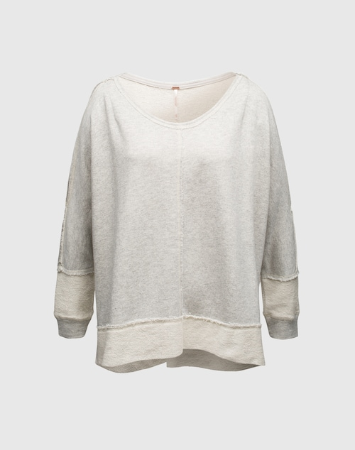 Free People Sweater mit Cut Out ´Terry Dandyline´ Damen grau
