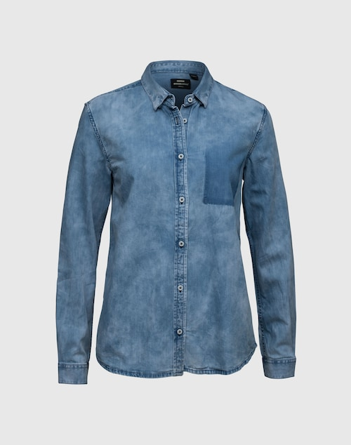 Dr. Denim Denimhemd aus Baumwolle Damen blau