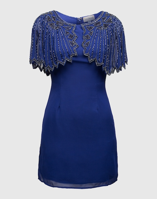 LACE & BEADS Evening Dress mit Perlenbesatz ´Jodie´ Damen blau