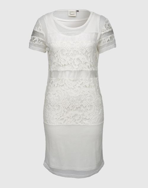KAREN BY SIMONSEN 2-in-1 Dress mit Spitze ´Benita´ Damen weiss