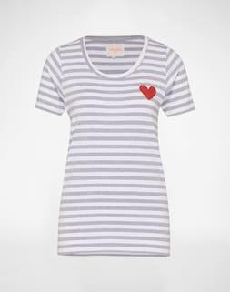 OH YEAH!;    T-Shirt mit Streifenmuster 'Heart';        39,90 €
