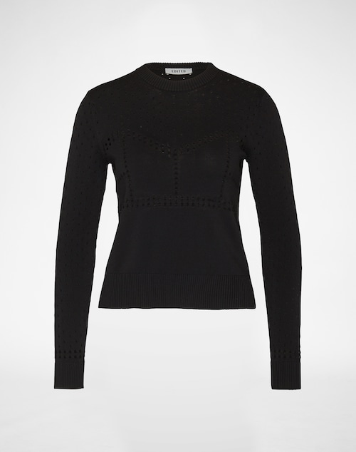 EDITED the label Jumper ´Dana´ Damen schwarz