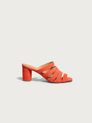Sandalen für Frauen - EDITED the label Pantolette 'Lissie' Damen orange  - Onlineshop Edited