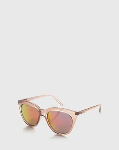 Sonnenbrillen für Frauen - LE SPECS Sonnenbrille 'Halfmoon Magic' Damen braun  - Onlineshop Edited