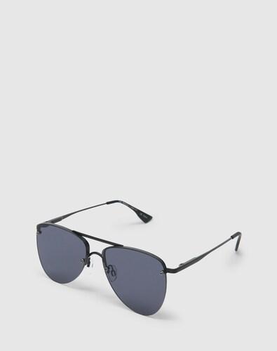 Sonnenbrillen für Frauen - LE SPECS Pilotenbrille 'THE PRINCE' schwarz  - Onlineshop Edited