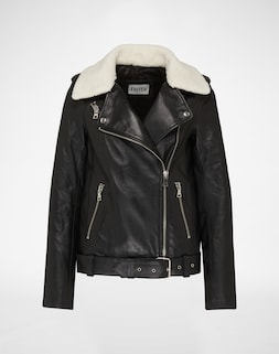 EDITED THE LABEL; Lederjacke mit abnehmbaren Kragen 'Luke Biker'; 199.00 €