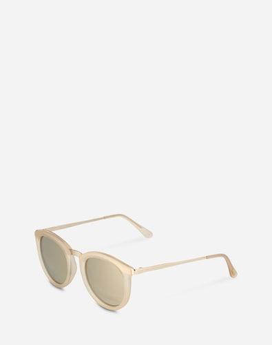 Sonnenbrillen für Frauen - LE SPECS Sonnenbrille 'No Smirking' beige  - Onlineshop Edited