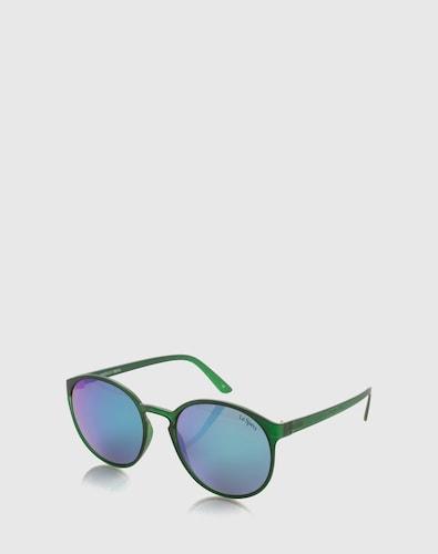 Sonnenbrillen für Frauen - LE SPECS Verspiegelte Sonnenbrille 'Swizzle' grün  - Onlineshop Edited