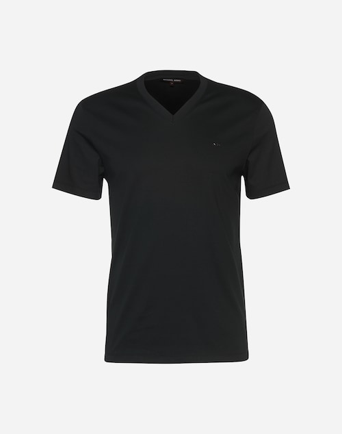 Michael Kors T-Shirt mit V-Ausschnitt Herren schwarz