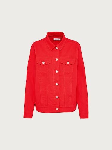 Jacken für Frauen - EDITED Jeansjacke 'Freja' Damen rot  - Onlineshop Edited