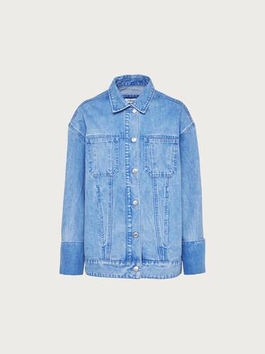 EDITED Jeansjacke ´Fina´ Damen blau | Bekleidung > Jacken > Jeansjacken | EDITED