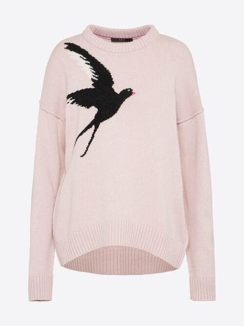 SET Strickpullover mit Vogelmotiv Damen pink