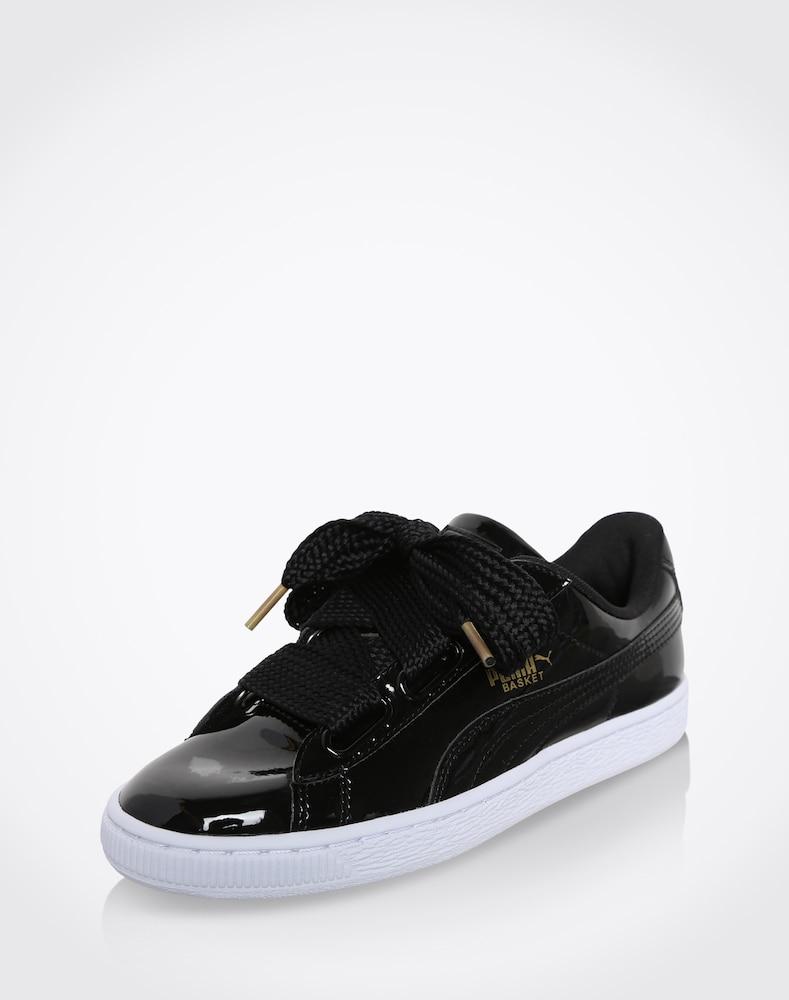 puma sneaker basket heart patent damen schwarz g nstig. Black Bedroom Furniture Sets. Home Design Ideas