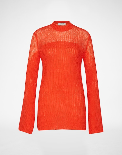 EDITED the label Wollpullover ´Viola´ Damen rot