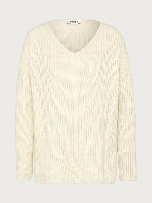 EDITED the label Pullover ´Emma´ Damen beige/weiß
