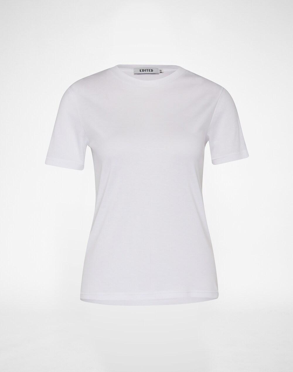 Artikel klicken und genauer betrachten! - Cooles Shirt im unifarbenen Design von EDITED the label. Der Baumwoll-Modalmix und die Elastizität sorgen für einen angenehmen Tragekomfort und die lässige Passform. Perfektes Basic für Casual Looks. | im Online Shop kaufen