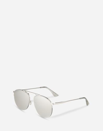Sonnenbrillen für Frauen - LE SPECS Sonnenbrille 'Liberation' Damen silber  - Onlineshop Edited
