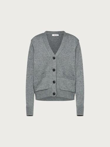 Jacken für Frauen - EDITED Cardigan 'Polly' Damen grau  - Onlineshop Edited