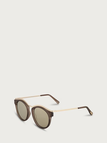 Sonnenbrillen für Frauen - LE SPECS Sonnenbrille 'HYPNOTIZE' Damen braun gold  - Onlineshop Edited